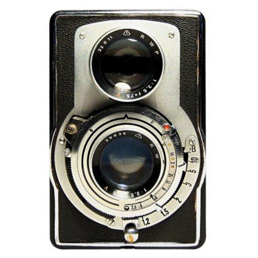 Original vintage camera rectangle magnet