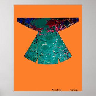 Original vintage Chapan1, Artmarbling Poster