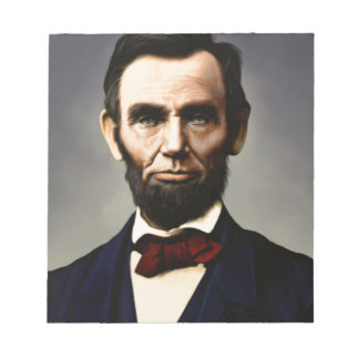 Original vintage color photo of Abraham Lincoln Notepads