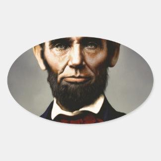 Original vintage color photo of Abraham Lincoln Oval Sticker