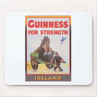 Original vintage famous beer poster mouse pad