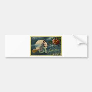 Original vintage halloween card bumper sticker