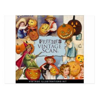 Original vintage halloween illustration postcards