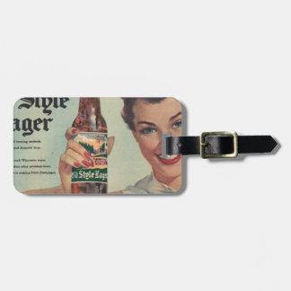 Original vintage Heilman's beer, Old style lager! Luggage Tag