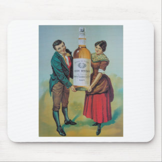 Original vintage Irish whisky poster, hand in hand Mouse Pad