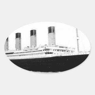 Original vintage photo of Titanic Oval Sticker