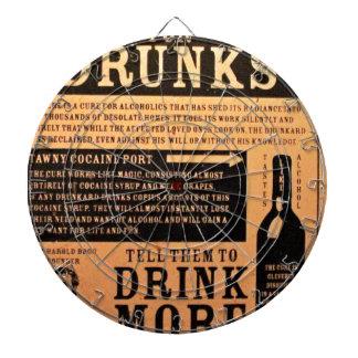 Original vintage poster cure for drunks 1900s dart board
