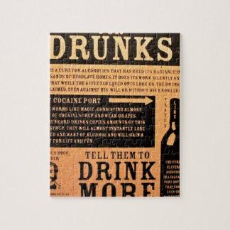 Original vintage poster cure for drunks 1900s jigsaw puzzle