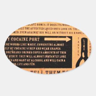 Original vintage poster cure for drunks 1900s oval sticker