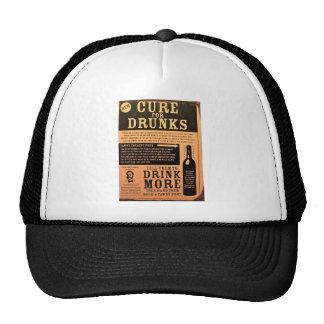 Original vintage poster cure for drunks 1900s trucker hat