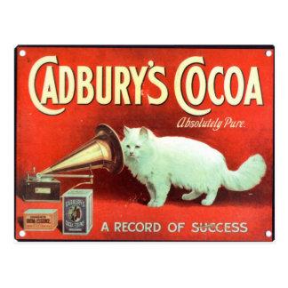 Original vintage poster of Cadbury's cocoa Postcard