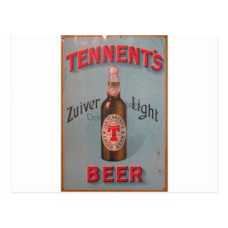 Original vintage poster of Glasgow's famous beer! Postcard