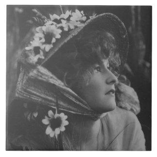 Original Vintage Woman Ceramic Tiles