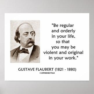 Original violenta de Gustave Flaubert en su trabaj Impresiones