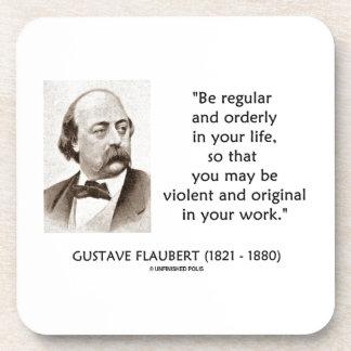 Original violenta de Gustave Flaubert en su trabaj Posavasos De Bebidas