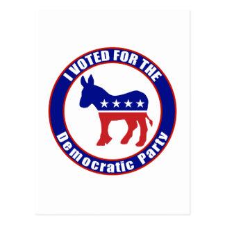 Original votada de Demócrata Postales