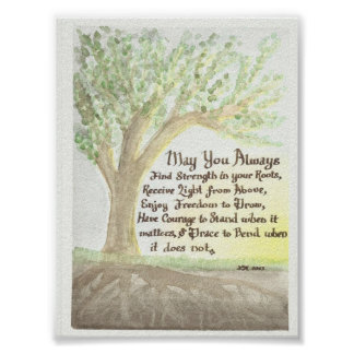 Original Watercolor and Blessing Poster