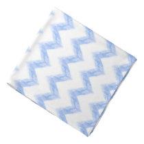 original watercolor blue chevron zigzag bandana