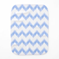 original watercolor blue chevron zigzag burp cloth