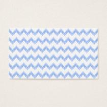 original watercolor blue chevron zigzag business card