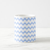 original watercolor blue chevron zigzag coffee mug