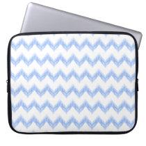 original watercolor blue chevron zigzag computer sleeve