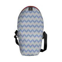 original watercolor blue chevron zigzag courier bag