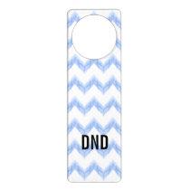 original watercolor blue chevron zigzag door hanger
