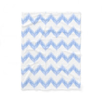 original watercolor blue chevron zigzag fleece blanket