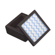 original watercolor blue chevron zigzag gift box