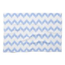 original watercolor blue chevron zigzag hand towels