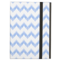 original watercolor blue chevron zigzag iPad air cover