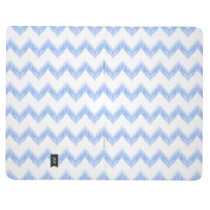 original watercolor blue chevron zigzag journal