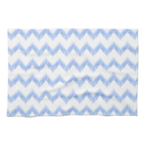 original watercolor blue chevron zigzag kitchen towel