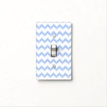 original watercolor blue chevron zigzag light switch cover