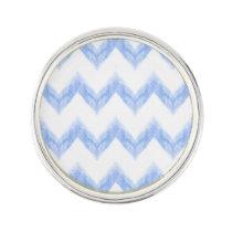 original watercolor blue chevron zigzag pin