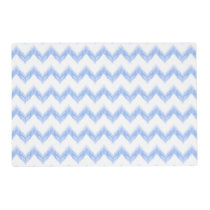 original watercolor blue chevron zigzag placemat