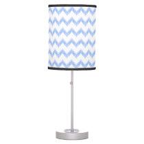 original watercolor blue chevron zigzag table lamp