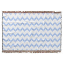 original watercolor blue chevron zigzag throw
