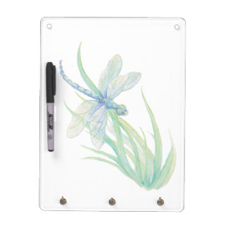 Original Watercolor Dragonfly in Blue and Green Dry-Erase Whiteboards