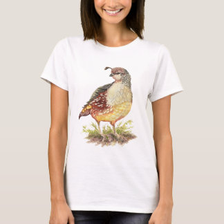 Original Watercolor Female California Quail- Bird T-Shirt