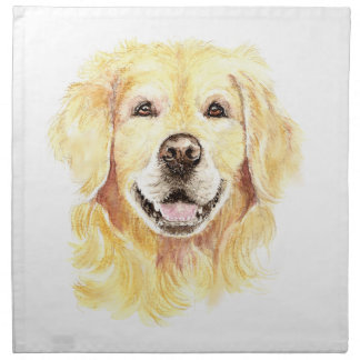 Original Watercolor Golden Retriever, Dog Pet Napkin