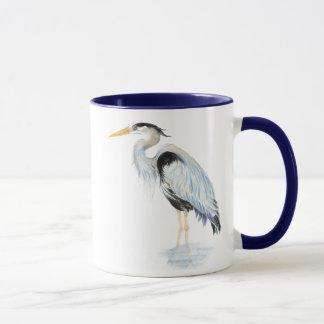 Original watercolor Great Blue Heron Bird Mug