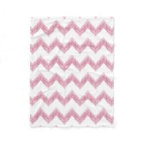original watercolor pink chevron zigzag fleece blanket