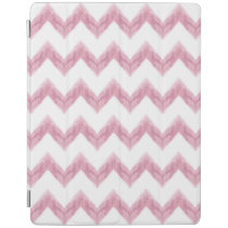 original watercolor pink chevron zigzag iPad smart cover