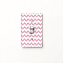 original watercolor pink chevron zigzag light switch cover