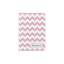 original watercolor pink chevron zigzag passport holder