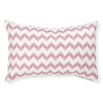 original watercolor pink chevron zigzag pet bed