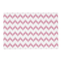 original watercolor pink chevron zigzag placemat