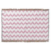 original watercolor pink chevron zigzag throw blanket